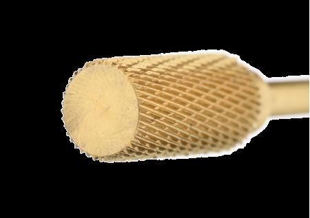 121.140.060 Насадка фреза твердосплавная барабан реверсивный мелкая нарезка золотистый 5,0мм