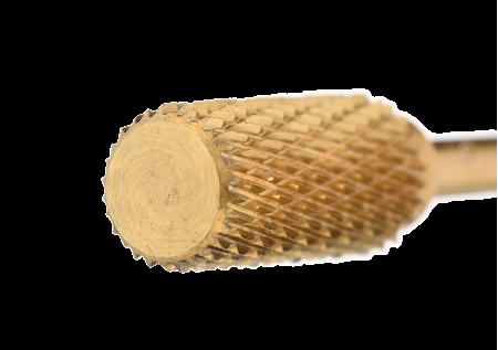 121.190.060 Насадка фреза твердосплавная барабан реверсивный золотистый средняя нарезка 6,0мм
