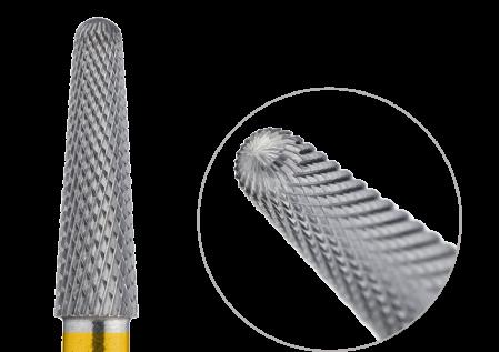 200.110.040 Насадка фреза твердосплавная конус закругленный супермелкая крестообразная нарезка 4мм