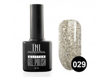 Гель-лак TNL Glitter №29 - серебро 10 мл