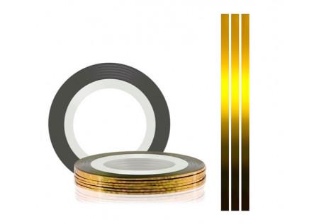 Самоклеющаяся нить для дизайна ногтей TNL золото, 20м*1мм