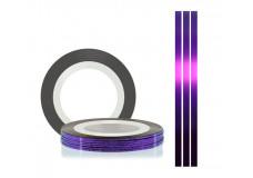Самоклеющаяся нить для дизайна ногтей TNL фиолетовая, 20м*1мм