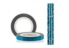 Самоклеющаяся нить для дизайна ногтей TNL перламутровая голубая, 20м*1мм