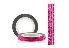 Самоклеющаяся нить для дизайна ногтей TNL перламутровая розовая, 20м*1мм