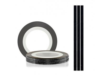 Самоклеющаяся нить для дизайна ногтей TNL черная, 20м*1мм