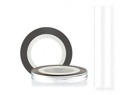 Самоклеющаяся нить для дизайна ногтей TNL белая, 20м*2мм