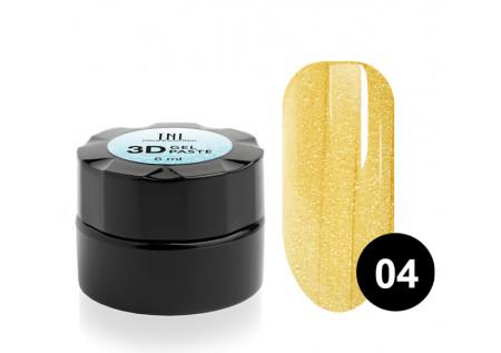 Гель-паста 3D TNL №04 желтое золото 6 мл.