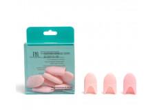 Силиконовые колпачки для снятия гель-лака (10 шт/упак) персиковые