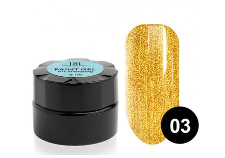 Гель-краска для стемпинга TNL №03 - золотая 6мл