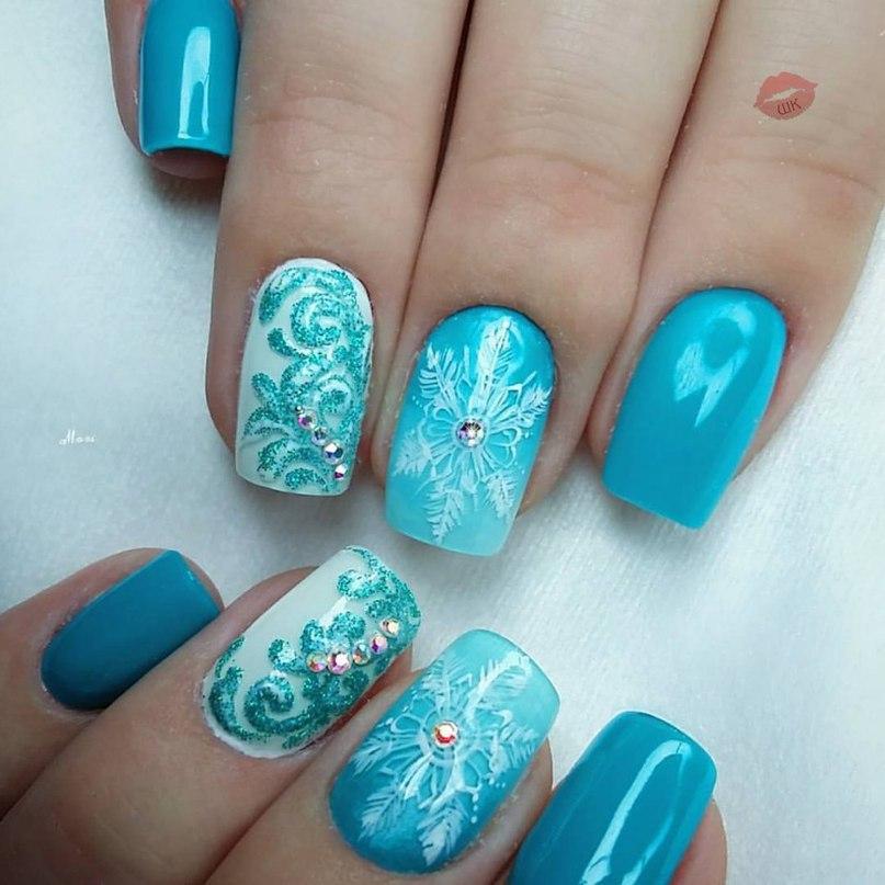 Зимний маникюр 2017 ногти